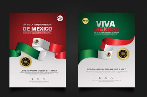 Mexico happy independence day template. | Premium Vector