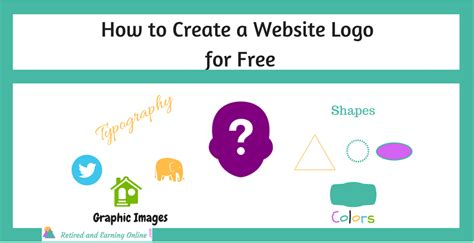 how to create a website logo for free retired and earning online