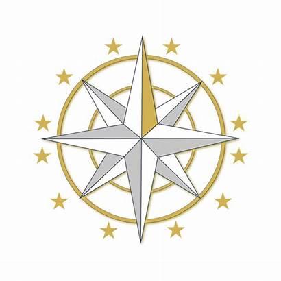 Compass Golden Clipart Sunset Direction Transparent Dibujo