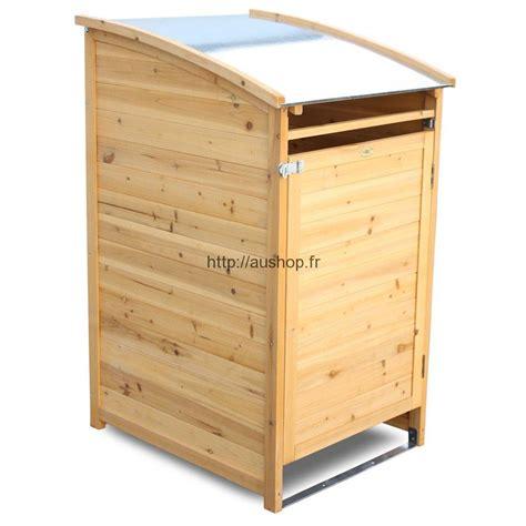 poubelle en bois cuisine abri poubelle pas cher rangement cache poubelle extérieur