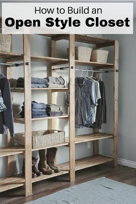 build  open style closet  budget diet