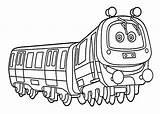 Chuggington Coloring Emery Printable Train 4kids Colouring Cartoon Fox Hound Cartoons sketch template