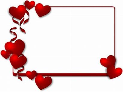 Borders Valentines Frames Frame Heart Clipart Pngkey