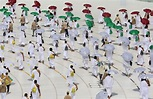 Stunning photos show socially distanced pilgrims attending ...