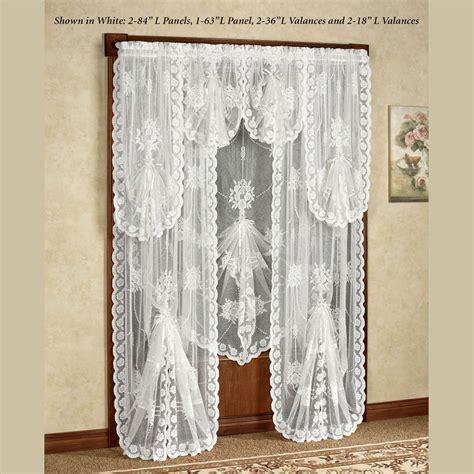 Victorian Bustle Lace Window Treatment