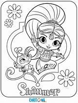 Colorare Disegni Shimmer Shine Stampare sketch template
