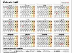 Kalender 2019 PDF Download Freewarede