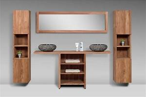 Meuble De Salle De Bain En Teck : meuble de salle de bain teck massif recycl loungea la ~ Edinachiropracticcenter.com Idées de Décoration
