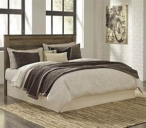Rustic, Look, King, Cal, King, Panel, Headboard, With, Metal, Brackets, By, Signature, Design, By, Ashley
