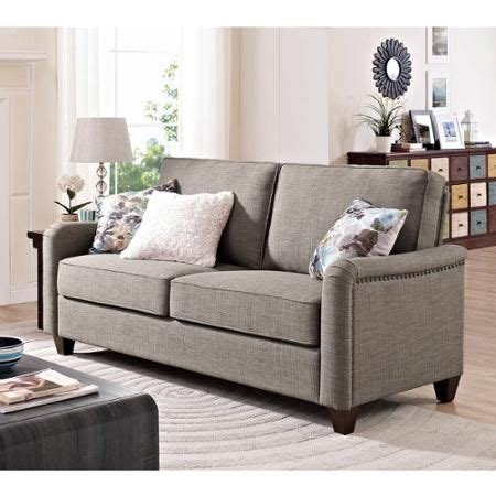 better homes and gardens grayson sofa with nailheads grey