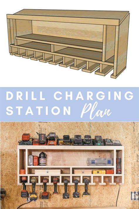 diy drill charging station plans pour outils ou etablis
