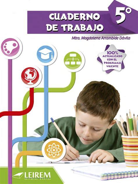 Cuaderno de trabajo 5to grado by Daniel Salinas Gonzalez