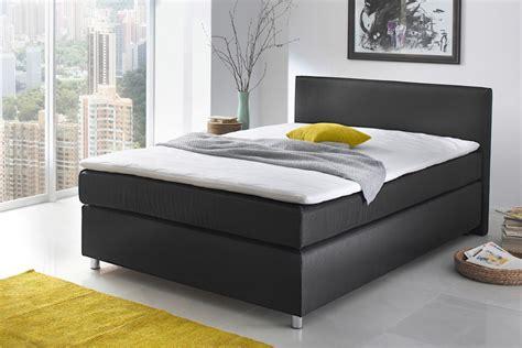 boxspringbett ascan 140x200cm bezug schwarz singlebett jugendbett wohnbereiche schlafzimmer