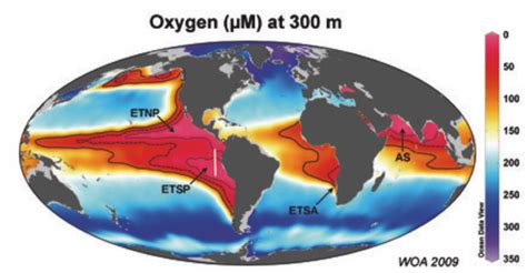 ocean zones dead fish oxygen disaster levels oceanic low chart atlas spreading marine 300m marked spells spread stop comment extremely
