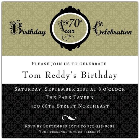 damask  birthday invitations paperstyle