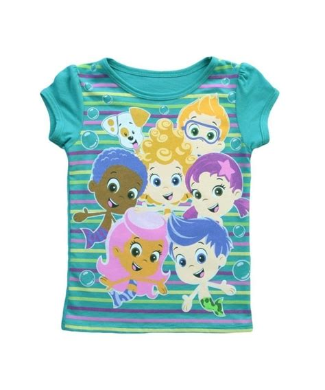 toddler bubble guppies stripe t shirt