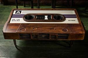 Une Table De Salon En Forme De Cassette Audio 2Tout2Rien