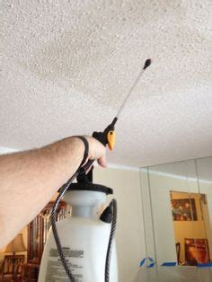 attach  plastic bag   popcorn ceiling