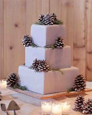 winter christmas wedding cake