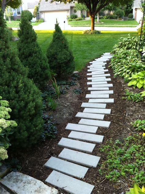 fun  side yard path   leftover composite