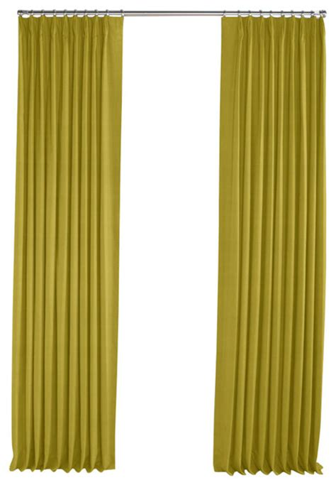 chartreuse curtains drapes chartreuse green linen pleated curtain contemporary