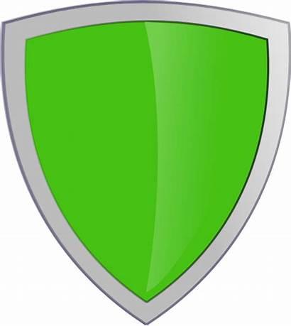 Shield Clipart Whitebackround Clip Transparent Clker Vector