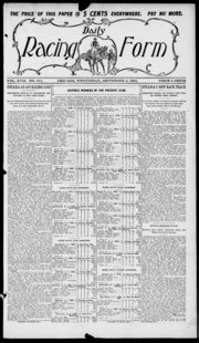 daily racing form n wednesday september 13 1911 daily racing form free download borrow