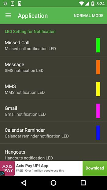 customize led notification colors  android device