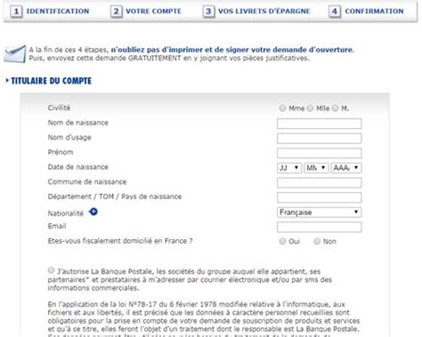 la banque postale si e social ouvrir un compte la banque postale en ligne