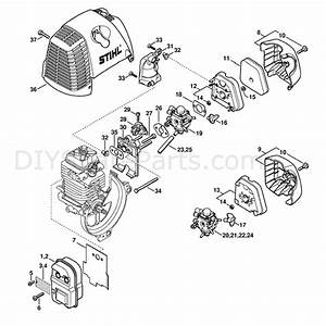 Stihl Fs 110 Brushcutter  Fs110  Parts Diagram  Muffler