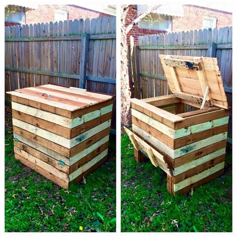 compost bin   recycled pallets  pallets