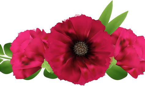 Beautiful Red Flowers Png Clip Art Image Gallery ...