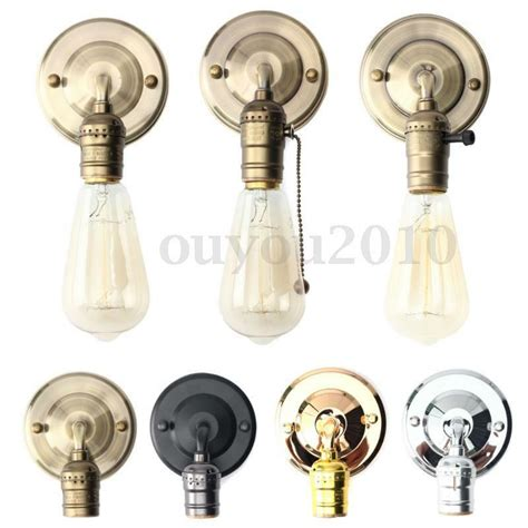 e27 antique vintage wall light sconce l bulb socket