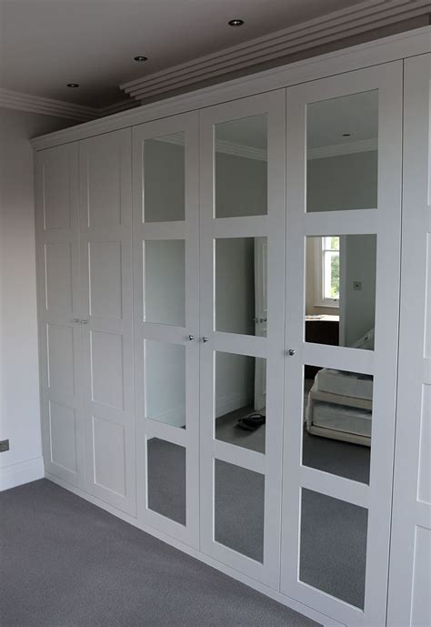 Fitted Wardrobe Doors by Fitted Wardrobe With Shaker Mirror Doors Előszoba