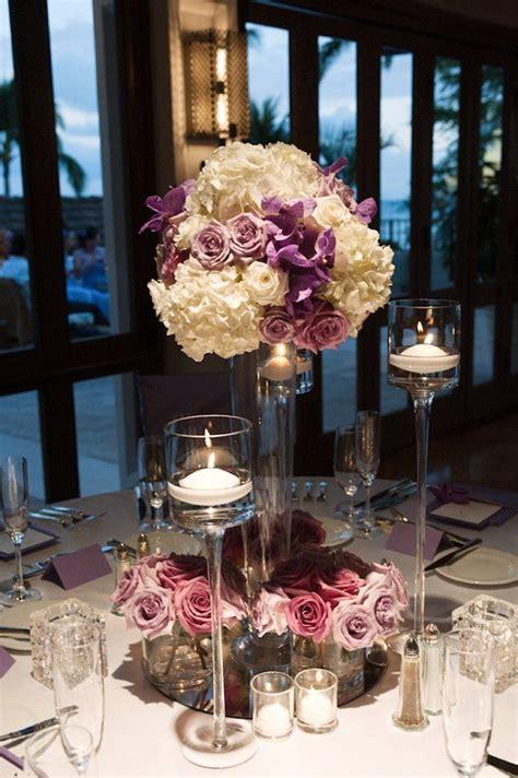 ideas  purple hydrangea centerpieces