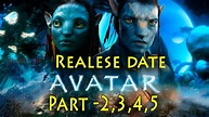 Avatar Part 2 To 5 Release Date Announced | A Perfect ...
