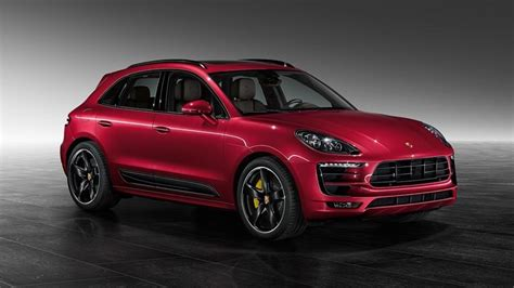 porsche macan turbo impulse red metallic  porsche