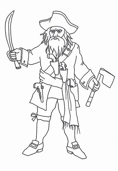 Pirate Coloring Pages Blackbeard Clip Pirates Beard