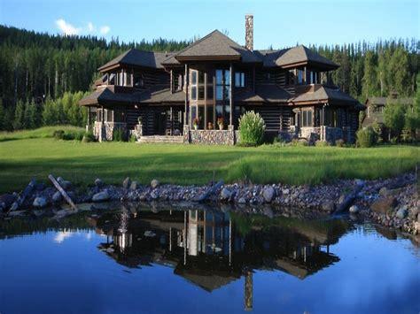 log cabin homes  log cabin homes  montana luxury log mansions treesranchcom