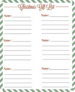 christmas gift checklist free printable the diary of a real housewife