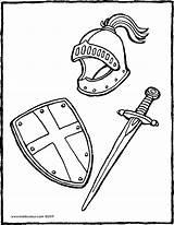Sword Shield Schild Coloriage Schwert Zwaard Helm Coloring Bouclier Helmet Chevalier Drawing Kiddicolour Swords Colouring Dessin Kleurplaat Ritter Casque Armadura sketch template