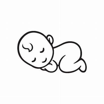 Newborn Sleeping Silhouette Vector Illustrations Clip Graphics