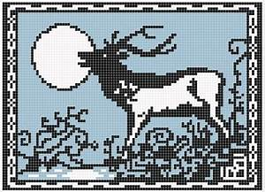 Ravelry: The Stag and the Moon pattern by Melanie Nordberg