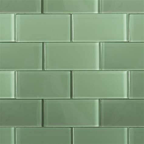 shop for loft spa green polished 3x6 glass tile at tilebar
