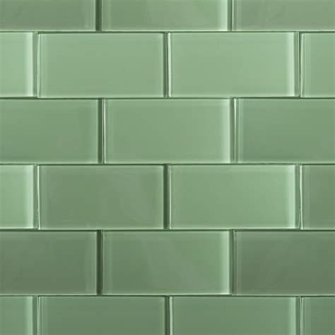 Shop For Loft Spa Green Polished 3x6 Glass Tile At Tilebarcom