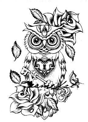 Cool idea | Owl coloring pages, Owl tattoo drawings, Owl
