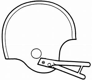 Blank Football Helmet Coloring Page Pictures To Pin On