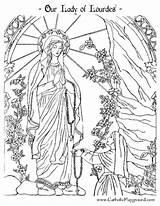 Colouring Katholische Perfeitos Riscos Nossa Arc Fatima sketch template
