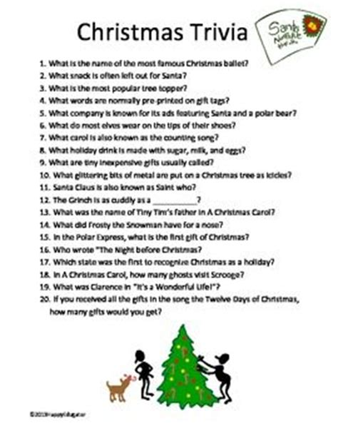 the night before christmas movie trivia free trivia twenty questions for your a trivia