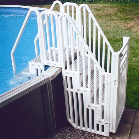 Above Ground Pool Ladder For Deck by 25 Best Ideas About Above Ground Pool Ladders On